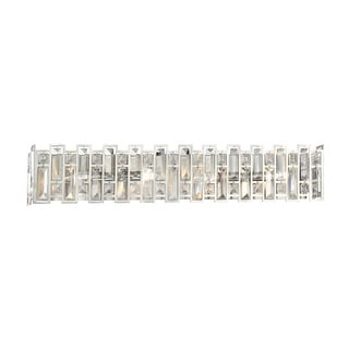 """Designers Fountain 88204-SP West 65th 4 Light 31"""" Wide ADA Compliant Wall Sconce with Faceted Glass Elements"""
