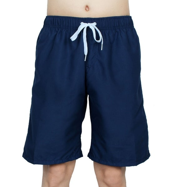 9c6c1a1e3a Chetstyle Authorized Adult Men Summer Swimming Shorts Swim Trunks Navy Blue  W 32