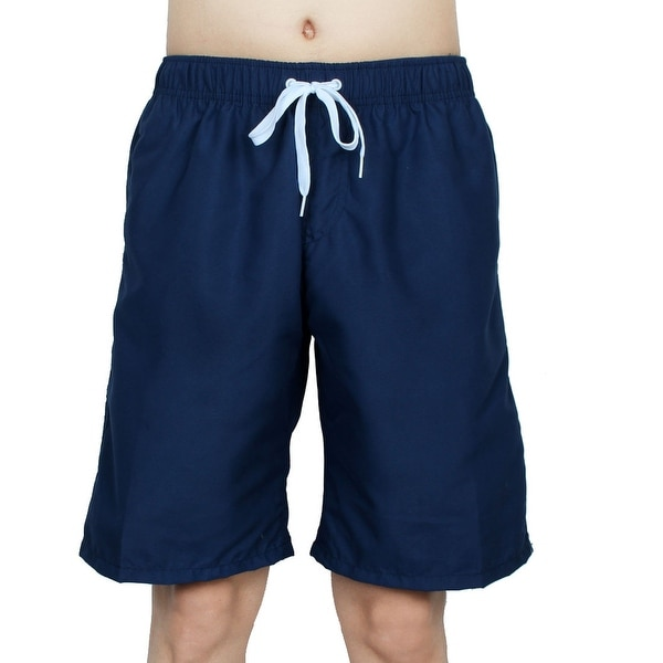 6e40fa203d Chetstyle Authorized Adult Men Summer Swimming Shorts Swim Trunks Navy Blue  W 32