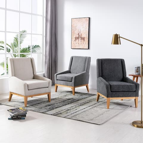 Corvus Armitage Chenille Upholstered Accent Chair