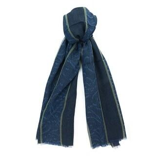 Gianfranco Ferre DU1 C3113 Navy/Khaki Wool Blend Mens' Scarf