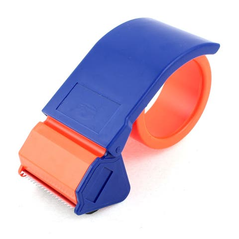Blue Plastic Shell Roller Sealing Parcel 50mm Tape Cutter Dispenser Gun