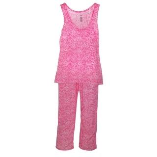 CTM® Women's Tank Top Pajama Pant Set - Grey - Medium