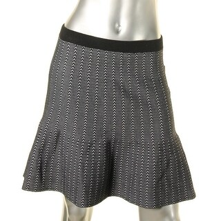 Rachel Rachel Roy Womens Dolly Flare Skirt Pattern Herringbone