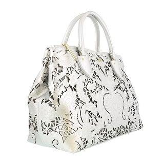 Class Roberto Cavalli Stardust 003 Silver Medium Handbag
