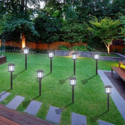 White LED Solar Lantern Torch Light Garden Landscape Lights