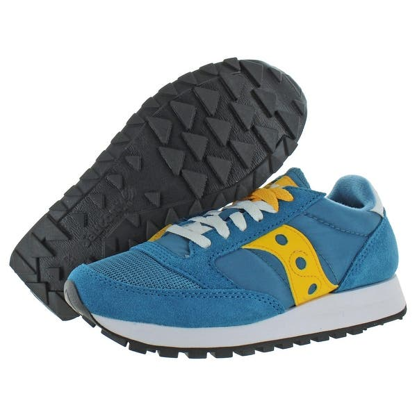 Details about  /SAUCONY women shoes Yellow fabric and suede Jazz Original sneaker with grey