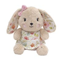 Lambs & Ivy Sweet Spring Plush Beige Bunny with Floral Print Stuffed Animal - Sugar