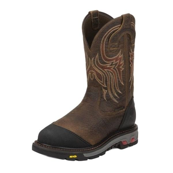 Justin Work Boots Mens Borehole Steel Toe Waterproof Met Guard