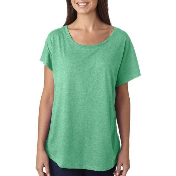 ede0fe21351 Shop Next Level Women s Tri-Blend Dolman Scoop Neck T-Shirt - Envy Green -  2X-Large - Free Shipping On Orders Over  45 - Overstock.com - 22044683