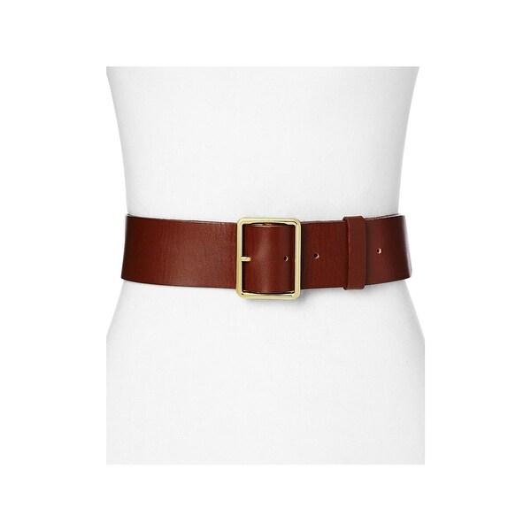 Frame Denim Womens Wide Belt Leather Rectangle
