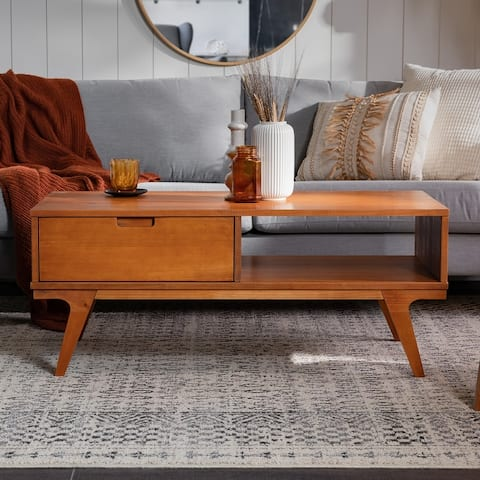 Carson Carrington Bridge Leg Wood Coffee Table