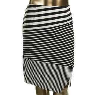 Calvin Klein Womens Straight Skirt Textured Striped