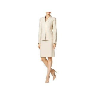 Le Suit Womens Skirt Suit 2PC Pindot
