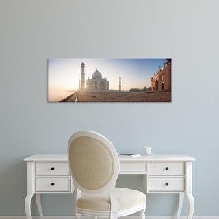 Easy Art Prints Panoramic Images's 'Taj Mahal at dawn, Agra, Uttar Pradesh, India' Premium Canvas Art