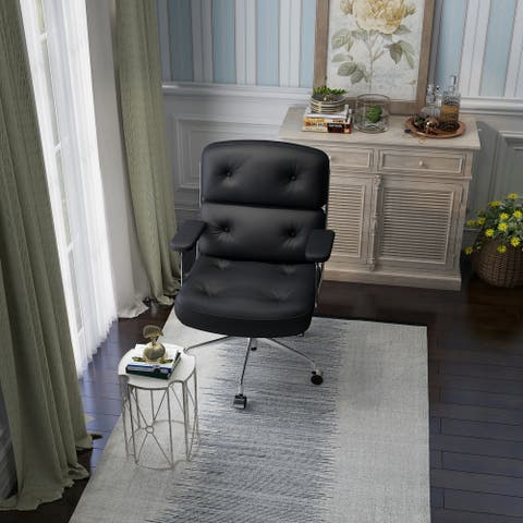 Mid-Century Modern Double Paded Tufted Office Chair Executive Chair Task Chair