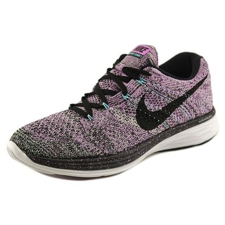 Nike Flyknit Lunar 3 Round Toe Synthetic Running Shoe