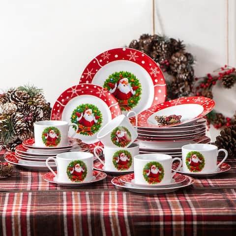 Christmas Dinnerware Set (Service for 6)