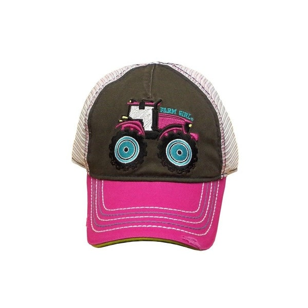 c16c4bb1289932 Shop Farm Girl Western Hat Girls Tractor Mesh S/M Medium Pink - Free  Shipping On Orders Over $45 - Overstock - 18821192