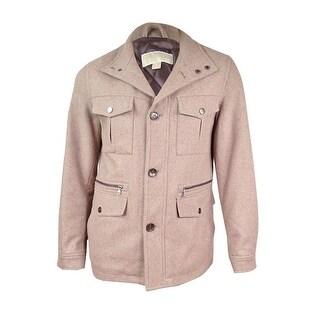 MICHAEL Michael Kors Men's Wool-Blend Field Coat (S, Toast Heather)