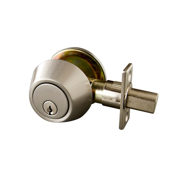 Design House 727446 Single Cylinder Deadbolt - Satin Nickel