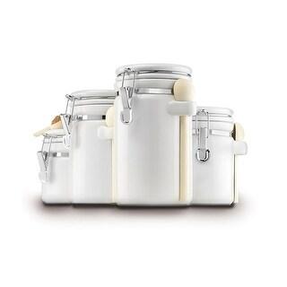 """Anchor Hocking Ceramic Canister Set - White Canister Set"""