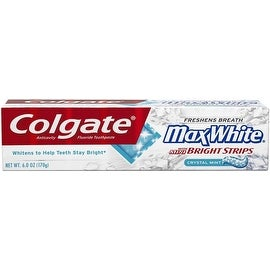 Colgate MaxWhite Toothpaste With Mini Bright Strips Crystal Mint 6 oz