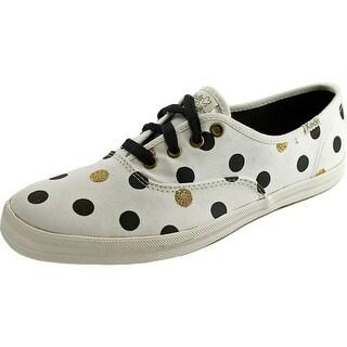 Keds CH TS Glitter Dot Women Round Toe Canvas White Sneakers