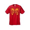 Men's T-Shirt Flaming Face Off Skulls Bikers Skeleton Fire Grim Reaper Death Tee - Thumbnail 2