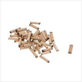 Natural Wood Bamboo Sleek Tube Beads 8mm x 2mm (100 loose beads)