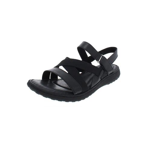 7625e27bbf48 Born Womens Manta Flat Sandals Leather Strappy