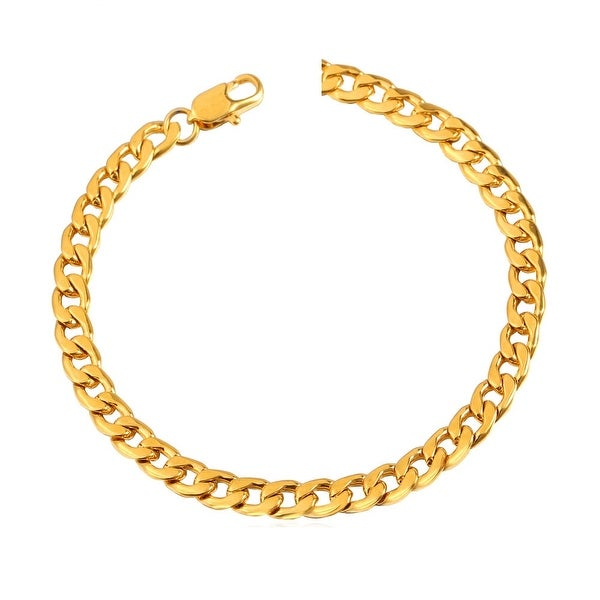 Mcs Jewelry Inc 14 KARAT YELLOW GOLD LIGHT MIAMI CUBAN (CURB) BRACELET 5.7MM (8.5 INCHES)
