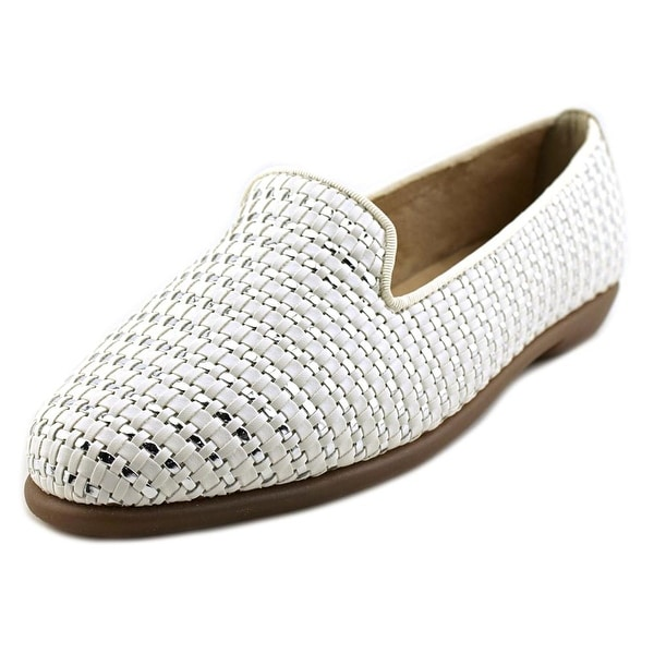 Aerosoles Betunia Women Round Toe Leather White Loafer