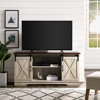 Link to The Gray Barn Wind Gap 58-inch Sliding Barn Door TV Console Similar Items in TV Consoles