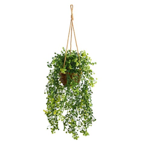 """20"""" Baby Tear Artificial Plant in Hanging Basket - 3"""""""