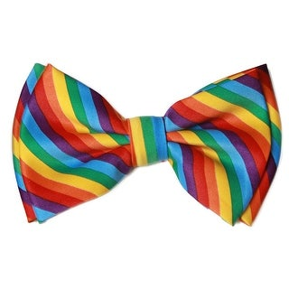 Pre-tied Bow Tie in Coool Brand Gift Box- Rainbow - One size