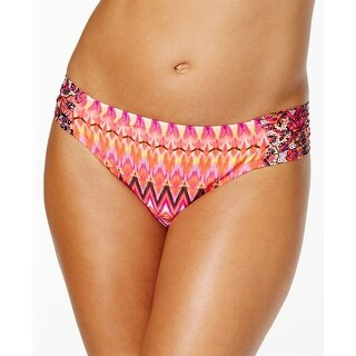 Kenneth Cole Reaction Womens Printed Chevron Swim Bottom Separates