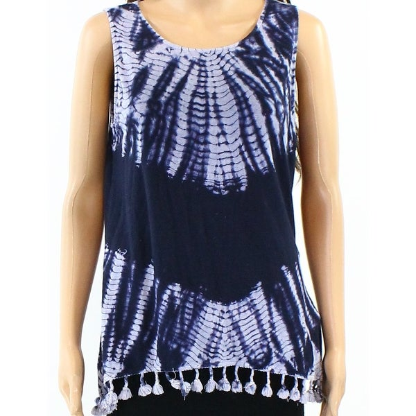 3732c00d6872 Shop Redhaute NEW Blue Womens Size Medium M Tassle-Hem Tie-Dye Tank Top -  Free Shipping On Orders Over  45 - - 20746802