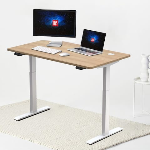 """Hi5 Electric Height Adjustable Standing Desks with Rectangular Tabletop (63""""x 27.5"""") with 4 Color Options"""