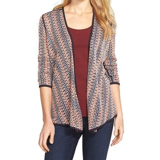 Nic + Zoe NEW Blue Women's Size Large L Cardigan Textured Knit Sweater