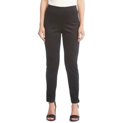 Karen Kane Womens Pants Small Dress Faux-Suede Skinny