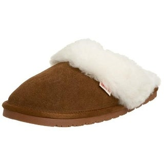 Tamarac by Slippers International Womens Fluff Suede Lambs Wool Slip-On Slippers