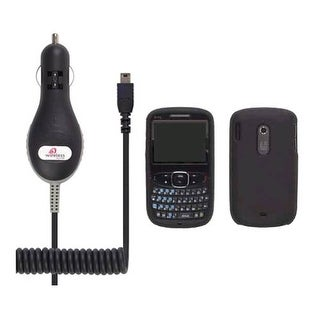 STARTER KIT Black Silicone Gel Case & Mini USB Car Charger for HTC S511 Snap