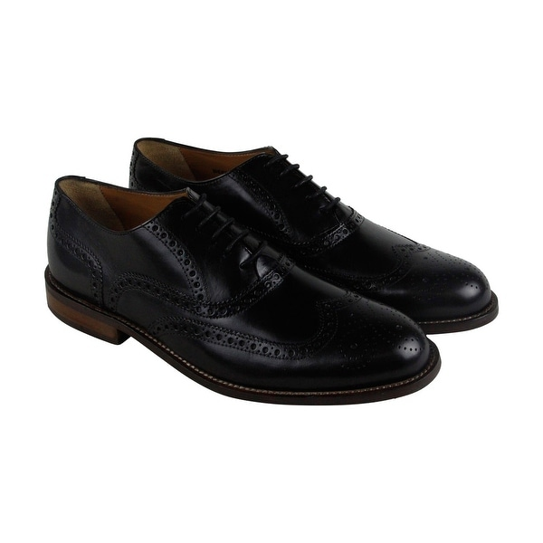 Florsheim Pascal Wingtip Ox Mens Black Leather Casual Dress Oxfords Shoes