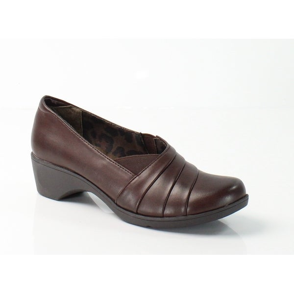 Soft Style NEW Dark Brown Kambra Size 7M Stretch Slip Ons Shoes