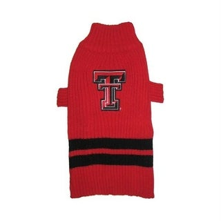 Texas Tech Red Raiders Dog Sweater - Small