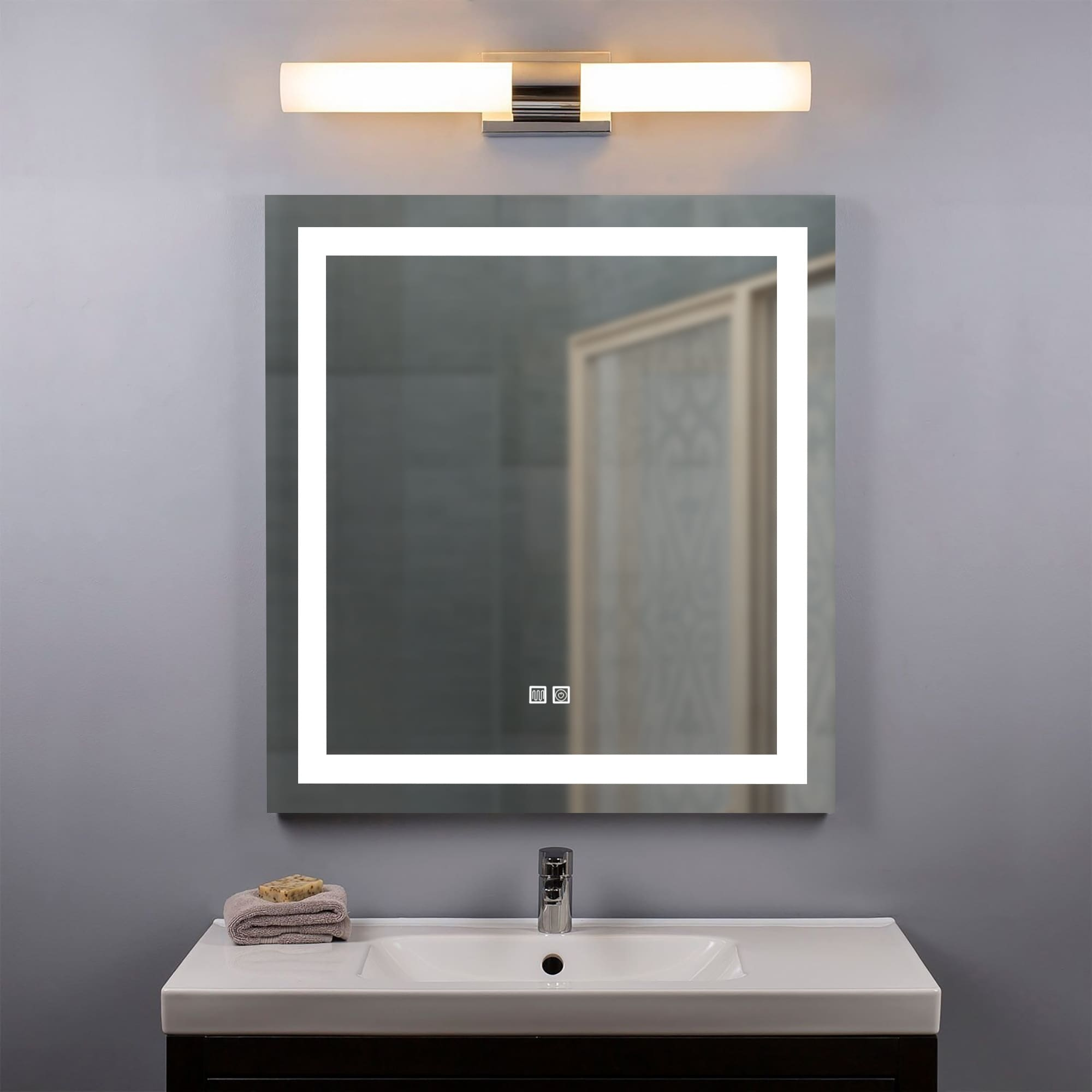 Shop For Saint Birch Lance Frameless Led Lighted Bathroom Vanity Mirror 24 Inches X 30 Inches Get Free Shipping On Everything At Overstock Your Online Home Decor Outlet Store Get 5 In Rewards With Club O 32123998