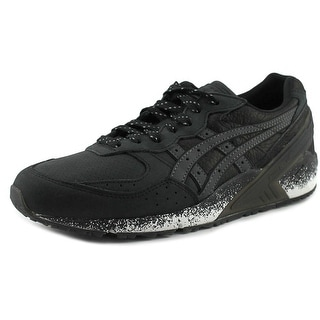 Asics Gel-Sight Men  Round Toe Leather Black Sneakers