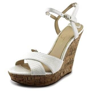 Jessica Simpson Isadoraa Women Open Toe Synthetic Wedge Sandal