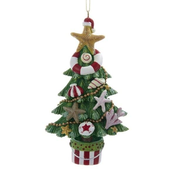 "4.5"" Beach Party Multi-Colored Coastal Vacation Christmas Tree Ornament"